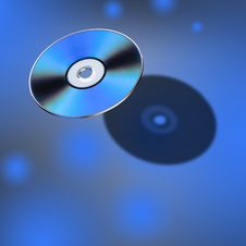 DVD Disk In 3D View Royalty Free Stock Image