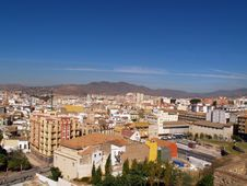 Panoramic View Of Malaga Royalty Free Stock Image