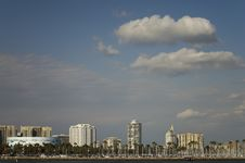 Free Long Beach Skyline Royalty Free Stock Photography - 8468117