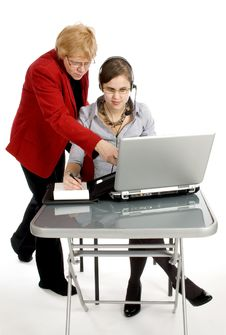 Free CEO Boss Is Showing To A Secretary Stock Images - 8468174