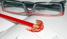 Free Red Pancil Sharpen Royalty Free Stock Image - 8469016