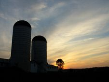 Free Silos And Sunset Stock Photos - 8469233
