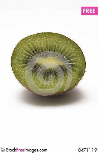 Cut Kiwi Stock Photo