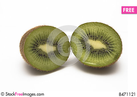 Cut Kiwi Stock Photo