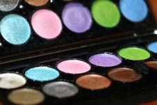 Colorfull Eyeshadows Stock Images