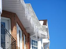 Free Town Homes With Icicles Royalty Free Stock Photography - 8470547