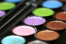 Colorfull Eyeshadows Stock Photos