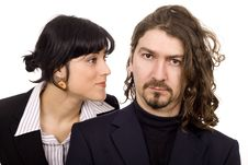 Serious Business Couple Stock Photo
