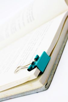 Free Paper Clip On Book Stock Image - 8470921