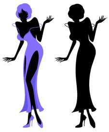 Free Illustrated Silhouette Of A Sexy Party Girl Royalty Free Stock Images - 8471069