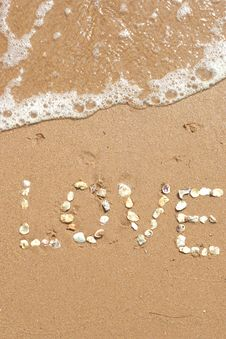 Free Love Sand Stock Photos - 8472273