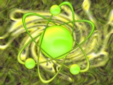 Free Atom Green - Abstract Background Stock Images - 8472664
