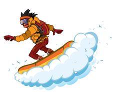 Free Snowboarder Isolation Royalty Free Stock Photos - 8473048