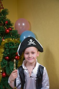 Free Boy In Carnival Costumes. Pirate. Stock Image - 8473101