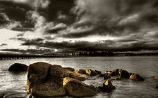 Free Brooding Sunset Stock Image - 8473381