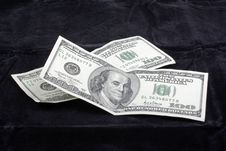Free Dollars On Black Velvet. Stock Photos - 8473613