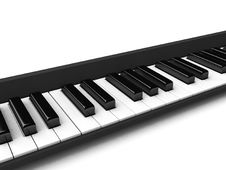 Three Dimensional Black And White Casio Keys Royalty Free Stock Photography