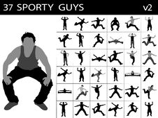Free Young Sporty Males Royalty Free Stock Photos - 8473748