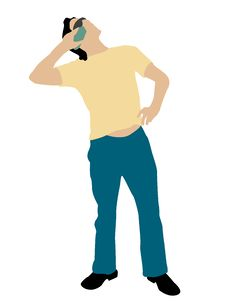 Free Man Posing With Cellphone Royalty Free Stock Image - 8473876