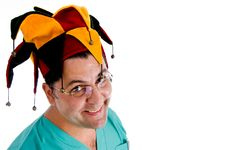 Free Surgeon Posing In Hat Royalty Free Stock Images - 8475129