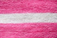 Pink Towel For A Bath. Stock Photos