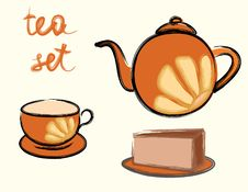 Free Tea Set Stock Photo - 8475790