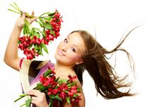 Free Beautiful Woman With Flowers Stock Images - 8476304
