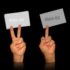 Visit Card Holders For White And Black List Stock Photos