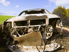 Burned Car Royalty Free Stock Photos