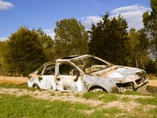 Free Burned Car Stock Photo - 8476460
