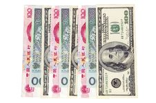 Free Different Banknotes - Money In One Row Stock Photos - 8476853