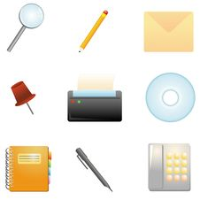 Office Items Royalty Free Stock Photo
