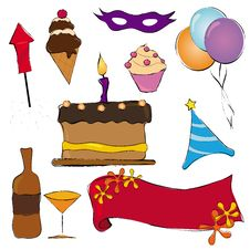 Party Items Stock Image