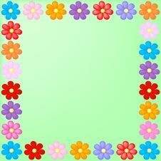 Free Floral Frame Royalty Free Stock Photos - 8477128