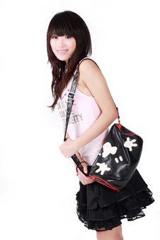 Free Asian Girl With Handbag Stock Images - 8477294