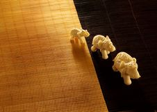 Free Three Elephant Toys On A Mat Stock Photography - 8477432