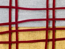 Free Yellow Sackcloth With Claret Laces Royalty Free Stock Photos - 8477928