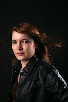 Free Beautiful Teenage Girl With Windblown Auburn Hair Stock Photos - 8478813