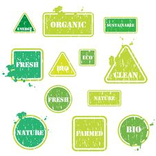 Free Set Of Eco Buttons Royalty Free Stock Image - 8479066