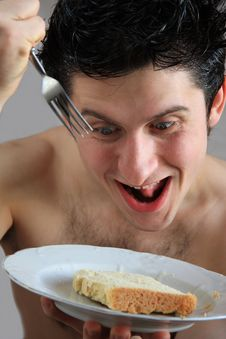 Free Man With Fork Stock Photography - 8479212