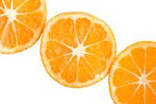 Free Three Tangerine Slices Stock Photography - 8479232