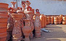 Earthen Pots Stock Photos