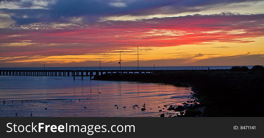 A beautiful beach sunset / sunrise