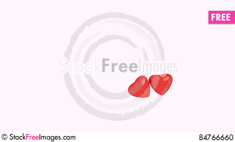 Free Red Hearts On White Background Stock Photo - 84766660