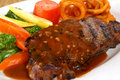 Free Steak With Vegetables Royalty Free Stock Photography - 8485557