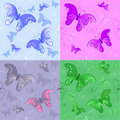 Free Seamless Pattern From Butterflies Stock Images - 8487924