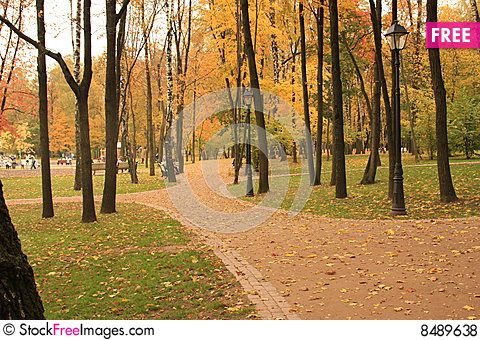 Free Recreation Park In The Moscow Royalty Free Stock Photos - 8489638