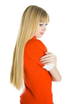 Free Portrait Of A Beautiful Blonde Woman Stock Image - 8480231
