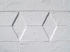 Free White Diamond Textured Exterior Wall Stock Images - 8480504