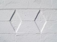 White Diamond Textured Exterior Wall Stock Images